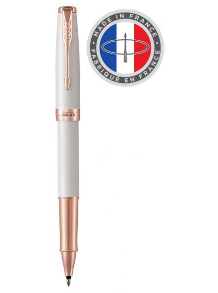 Ручка роллер Parker Sonnet Premium T540 (1931554) Pearl PGT F черные чернила подар.кор.
