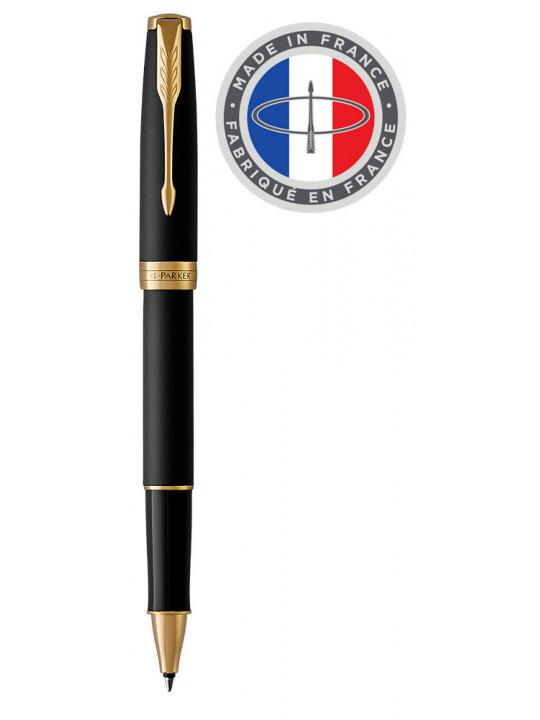 Ручка роллер Parker Sonnet Core T528 (1931518) Matte Black GT F черные чернила подар.кор.