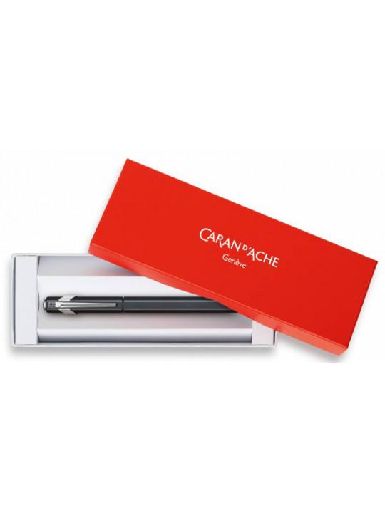 Ручка перьевая Carandache Office 849 Classic (841.009) Matte Black F перо сталь нержавеющая подар.кор.