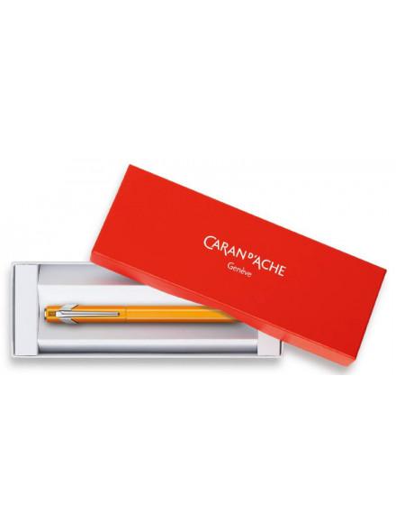 Ручка перьевая Carandache Office 849 Fluo (841.030) оранжевый флуоресцентный F перо сталь нержавеющая подар.кор.
