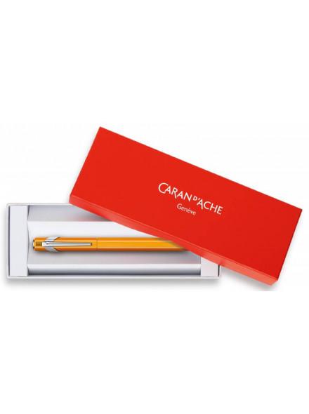 Ручка перьевая Carandache Office 849 Fluo (842.090) пурпурный флуоресцентный EF перо сталь нержавеющая подар.кор.