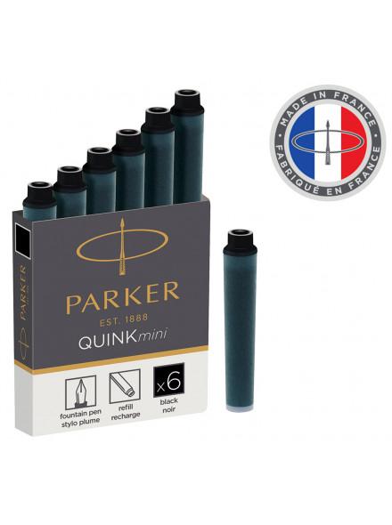 Картридж Parker Quink Z17 MINI (1950407) черный чернила для ручек перьевых (6шт)