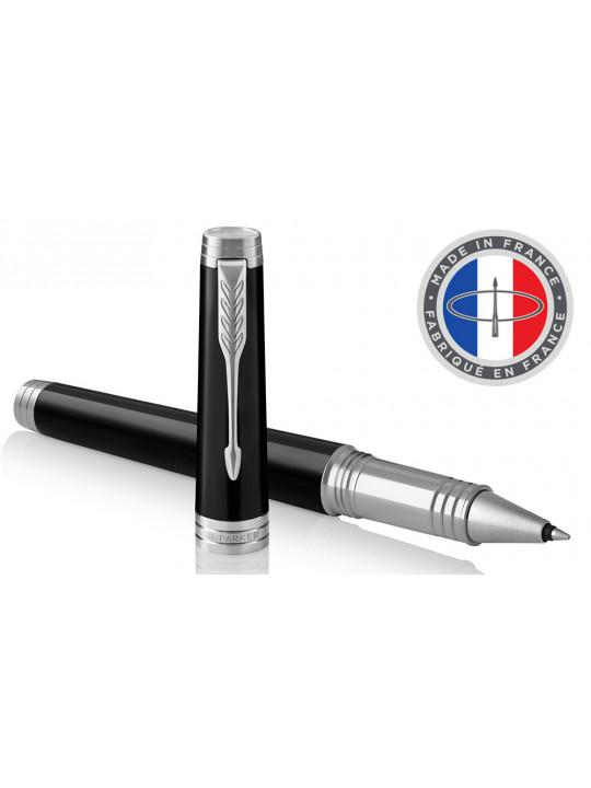 Ручка роллер Parker Premier T560 Lacque (1931415) Black CT F черные чернила подар.кор.