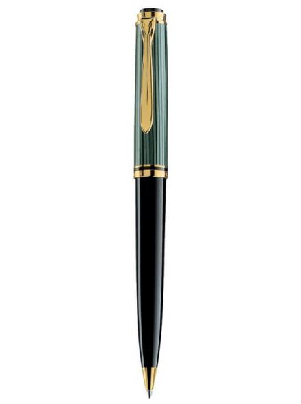 Ручка шариковая Pelikan Souveraen K 800 (PL996991) черный/зеленый M черные чернила подар.кор.
