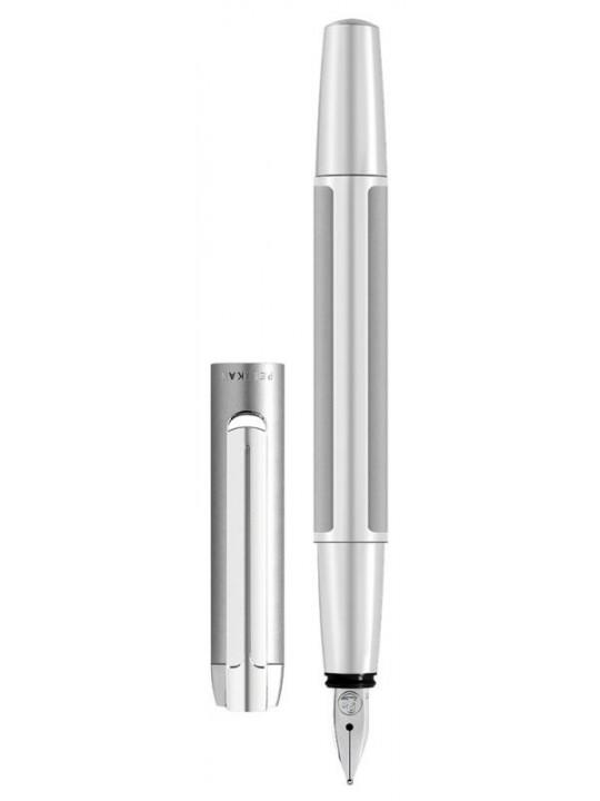Ручка перьевая Pelikan Elegance Pura P40 (PL952036) серебристый EF перо сталь нержавеющая подар.кор.