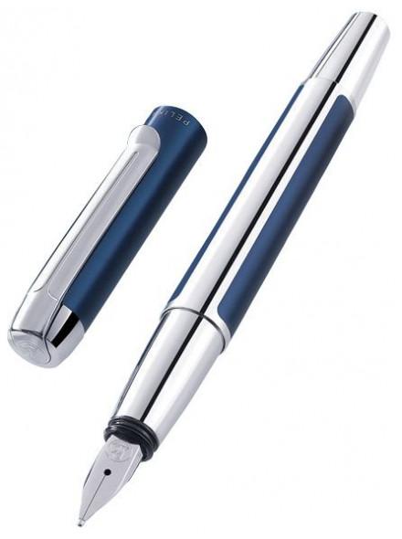 Ручка перьев. Pelikan Elegance Pura P40 (PL954966) синий/серебристый EF сталь нержавеющая подар.кор.конвертор/картриджи
