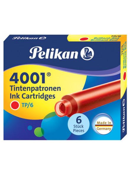 Картридж Pelikan INK 4001 TP/6 (PL301192) Brilliant Red чернила для ручек перьевых (6шт)