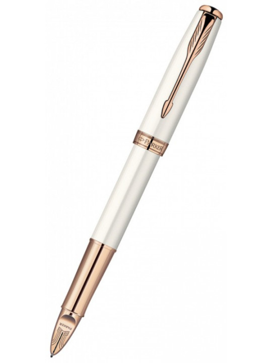 Ручка 5й пишущий узел Parker Sonnet F540 (S0975990) Pearl PGT F черные чернила