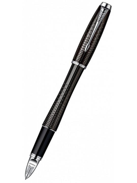 Ручка 5й пишущий узел Parker Urban Premium F504 (S0976050) Ebony Metal Chiselled F черные чернила