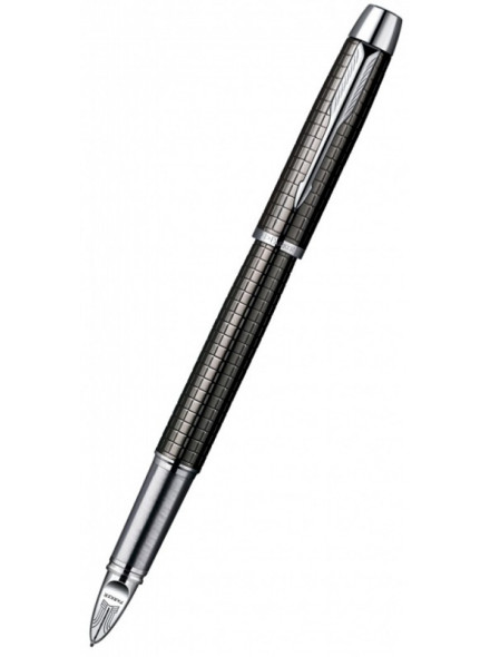 Ручка 5й пиш.узел Parker IM Premium F522 (S0976110) Deep Grey Gun Metal черные в компл.:стержень сменный Parker 5th/стержень-муляж в ручке подар.кор.стержень Parker 5th