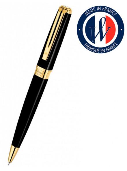 Ручка шариковая Waterman Exception Slim (S0636960) Black GT M синие чернила подар.кор.