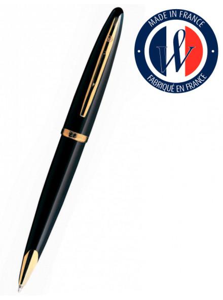 Ручка перьев. Waterman Carene (S0700300) Black GT F золото 18K в компл.:в корпус вставлен конвертор/картридж 1шт с синими чернилами подар.кор.конвертор/картриджи