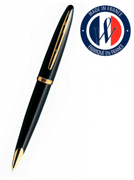 Ручка шариковая Waterman Carene (S0700380) Black GT M синие чернила подар.кор.
