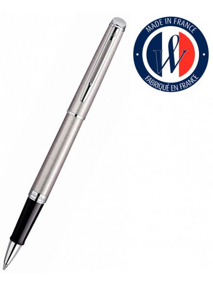 Ручка роллер Waterman Hemisphere (S0920450) Steel CT F черные чернила подар.кор.