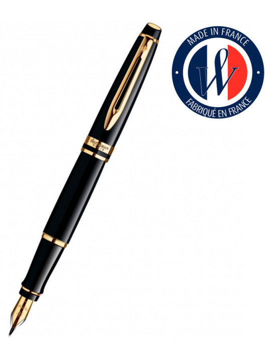 Ручка перьевая Waterman Expert 3 (S0951640) Black Laque GT F перо сталь подар.кор.
