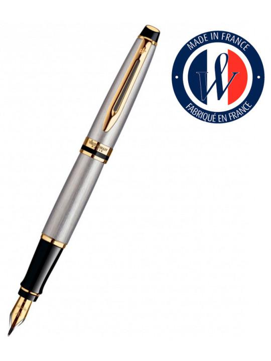Ручка перьевая Waterman Expert 3 (S0951940) Stainless Steel GT F перо сталь подар.кор.