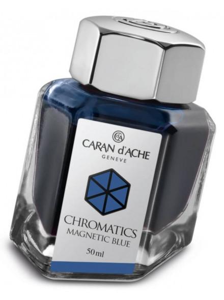 Флакон с чернилами Carandache Chromatics (8011.149) Magnetic blue чернила 50мл