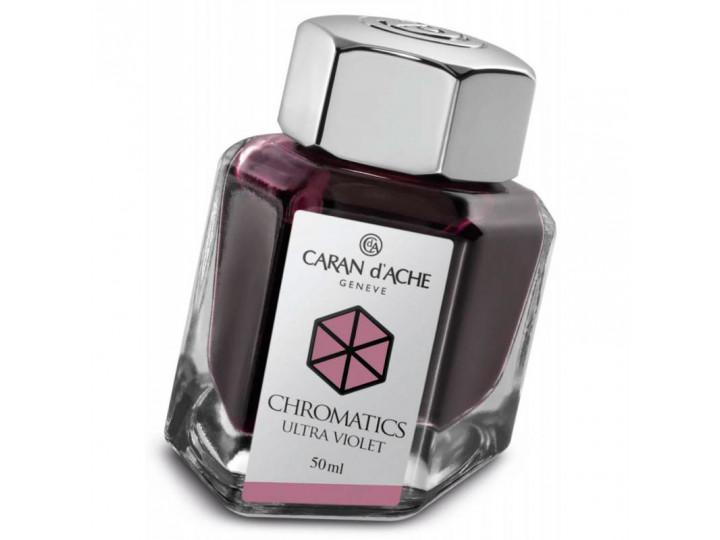 Флакон с чернилами Caran d'Ache Chromatics Ultraviolet фиолетовый 50 мл