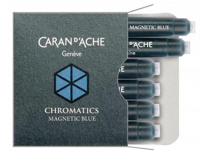 Картриджи Caran d'Ache Chromatics Magnetic Blue для перьевых ручек