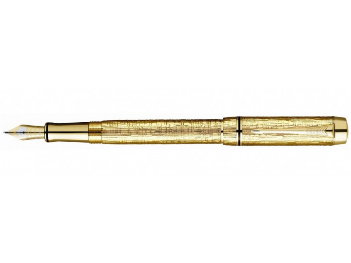 Перьевая ручка Parker Duofold Esparto F103 Solid Gold