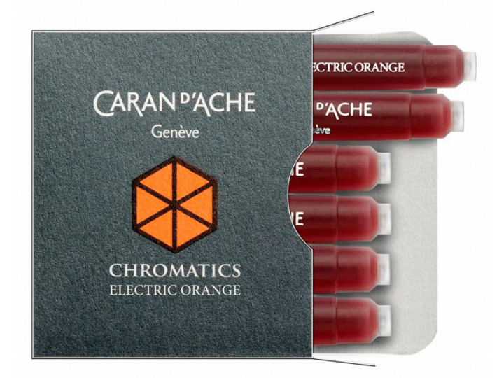 Картриджи Caran d'Ache Chromatics Electric Orange для перьевых ручек