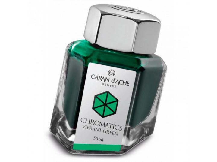 Флакон с чернилами Caran d'Ache Chromatics Vibrant Green зеленый 50 мл