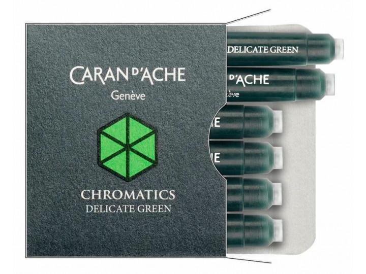 Картриджи Caran d'Ache Chromatics Delicate Green для перьевых ручек