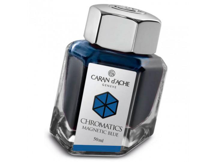 Флакон с чернилами Caran d'Ache Chromatics Magnetic Blue синий 50 мл