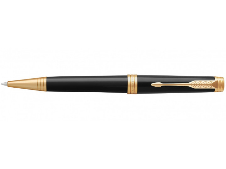 Ручка шариковая Parker Premier K560 Lacque Black GT M