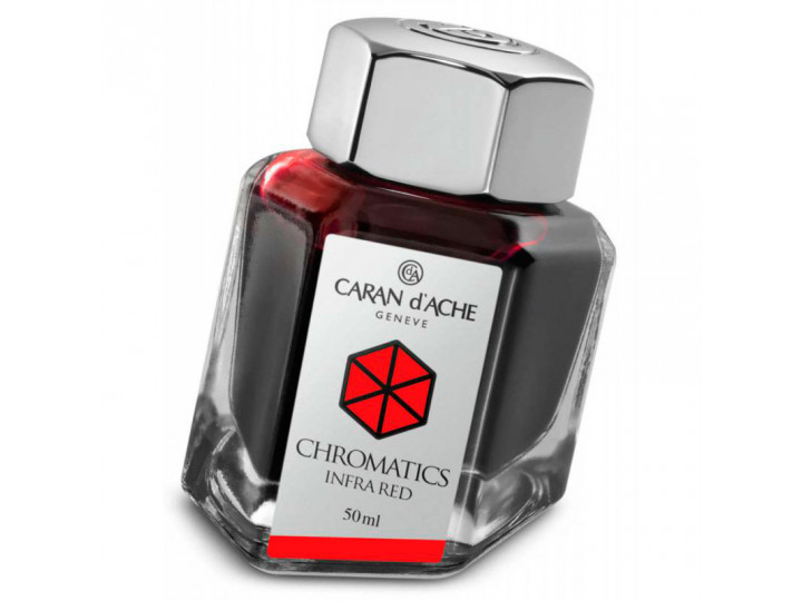 Флакон с чернилами Caran d'Ache Chromatics Infrared красный 50 мл