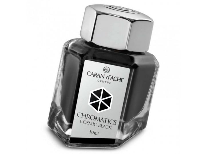 Флакон с чернилами Caran d'Ache Chromatics Cosmic Black черный 50 мл