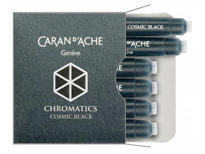Картриджи Caran d'Ache Chromatics Cosmic Black для перьевых ручек