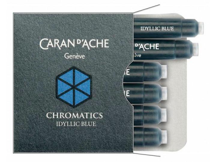 Картриджи Caran d'Ache Chromatics Iddyllic Blue для перьевых ручек