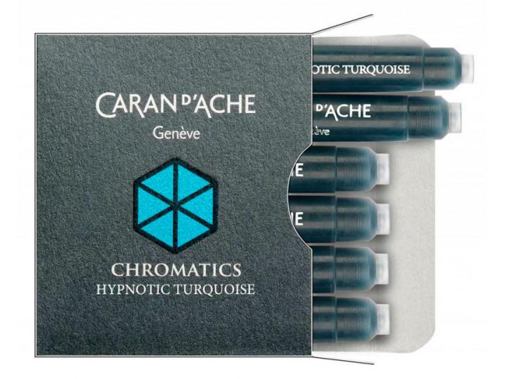 Картриджи Caran d'Ache Chromatics Hypnotic Turquoise для перьевых ручек