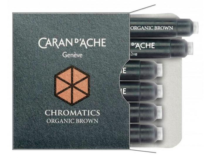 Картриджи Caran d'Ache Chromatics Organic Brown для перьевых ручек