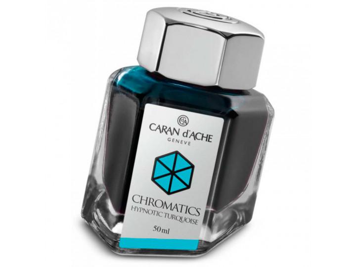 Флакон с чернилами Caran d'Ache Chromatics Hypnotic Turquoise бирюзовый 50 мл