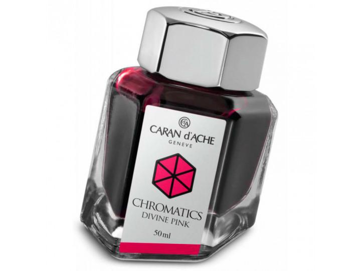Флакон с чернилами Caran d'Ache Chromatics Divine Pink розовый 50 мл