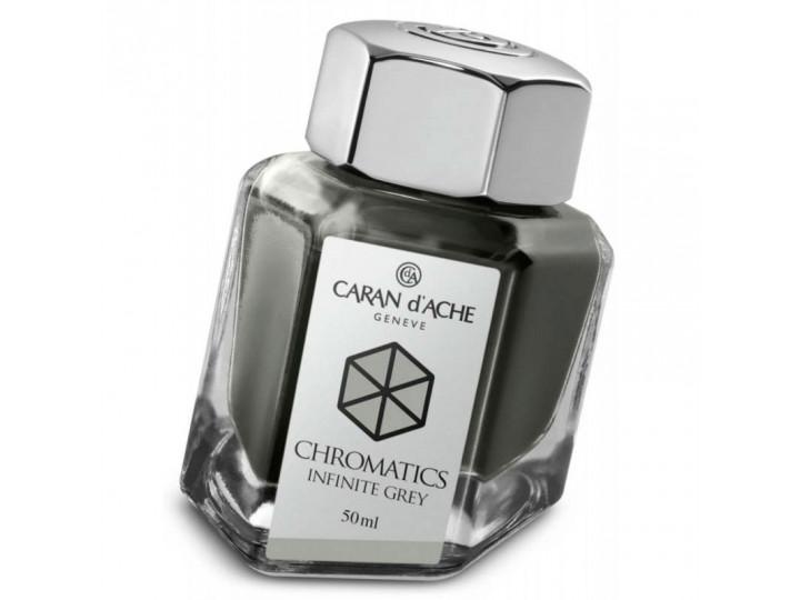 Флакон с чернилами Caran d'Ache Chromatics Infinite Grey серый 50 мл