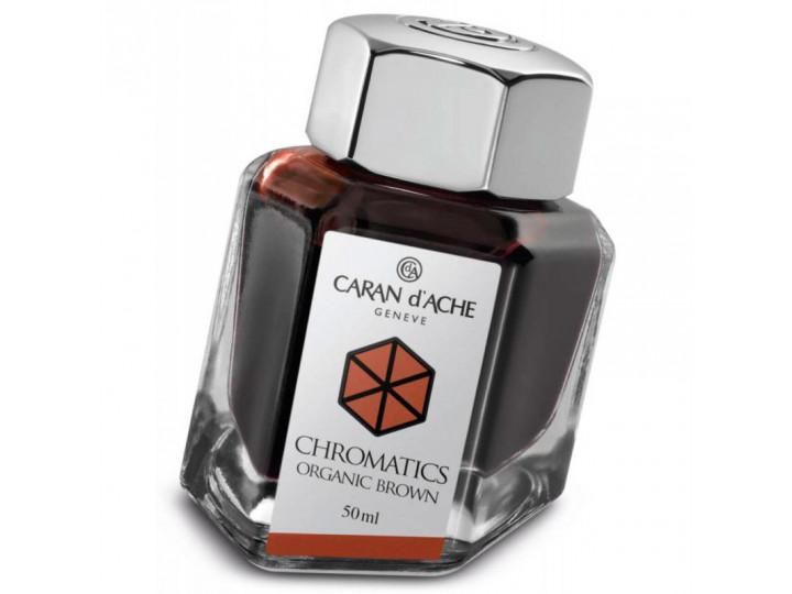 Флакон с чернилами Caran d'Ache Chromatics Organic Brown коричневый 50 мл