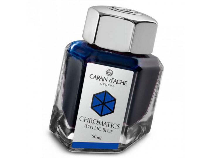Флакон с чернилами Caran d'Ache Chromatics Iddyllic Blue синий 50 мл