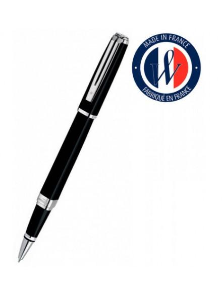 Ручка роллер Waterman Exception Slim (S0637070) Black ST F черные чернила подар.кор.