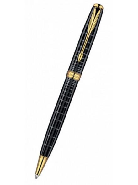 Ручка шариковая Parker Sonnet K531 (S0912470) Dark Grey Laquer GT M черные чернила подар.кор.