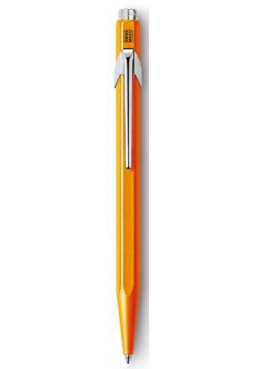 Ручка шариковая Carandache Office Popline (849.530) Orange Fluo M синие чернила подар.кор.