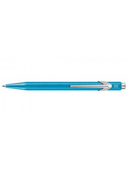 Ручка шариков. Carandache Office Popline Metal-X (849.671) Turquoise Metallic подар.кор.