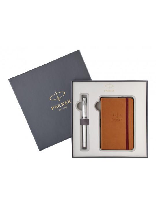 Подарочный набор: перьевая ручка Parker Urban Premium Pearl Metal CT M и блокнот